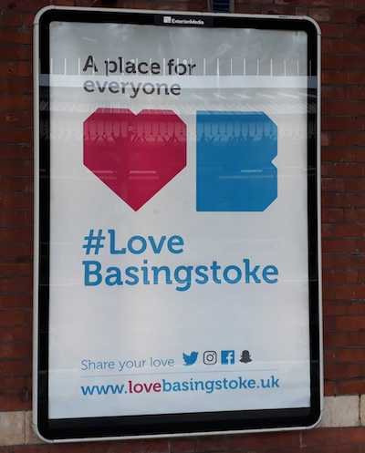 train station poster for basingstoke council