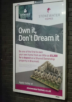train station poster at bracknell platform